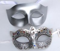 Silver Flick Masks
